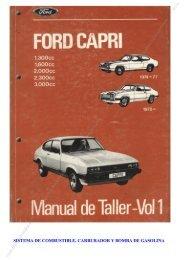 Sistema de combustible y carburador - Capri Club Madrid