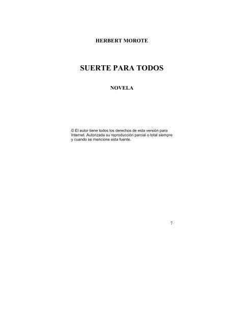 1b0629a0ce7 TEXTO SUERTE PARA TODOS. - Herbert Morote
