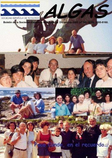 algas 34 - Sociedad Española de Ficología
