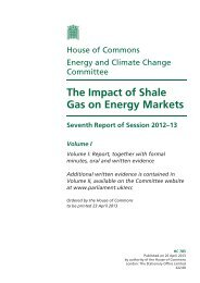 The Impact of Shale Gas on Energy Markets