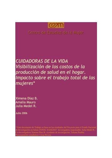 Cuidadoras de la Salud. Documento de trabajo - CEM, Centro de ...