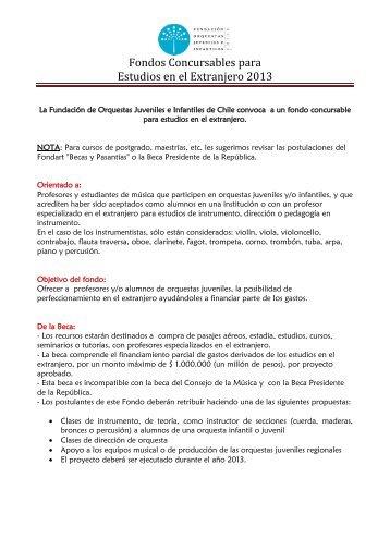 bases - Fundación Orquestas Juveniles e Infantiles de Chile