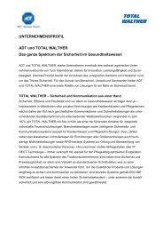 UNTERNEHMENSPROFIL ADT und TOTAL WALTHER Das ganze ...