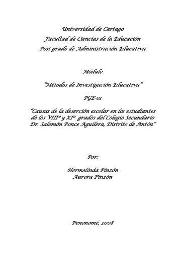 Resumen Ejecutivo : - inicio - Universidad de Cartago