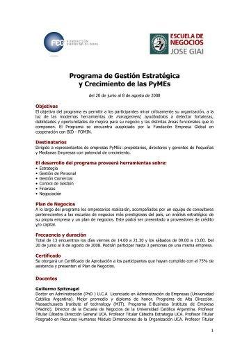 descargar programa - Fundacion Empresa Global