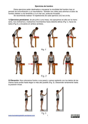 Rehabilitación hombros