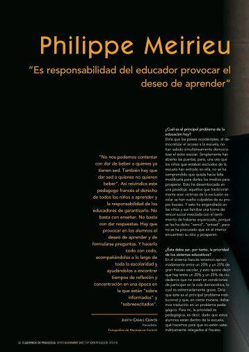 Philippe Meirieu - Universidad ORT Uruguay