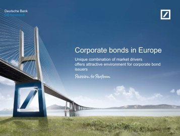 Corporate bonds in Europe