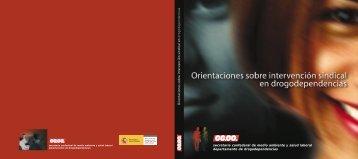 Orientaciones sobre intervención sindical en drogodependencias