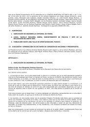 Acta extraordinaria N° 53 - Municipalidad de Santa Ana