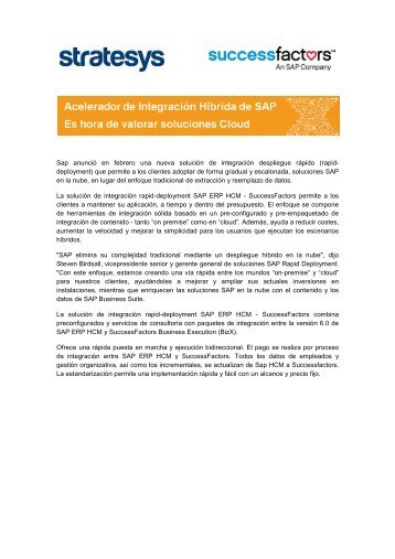 Stratesys HCM Newsletter – Marzo 2013