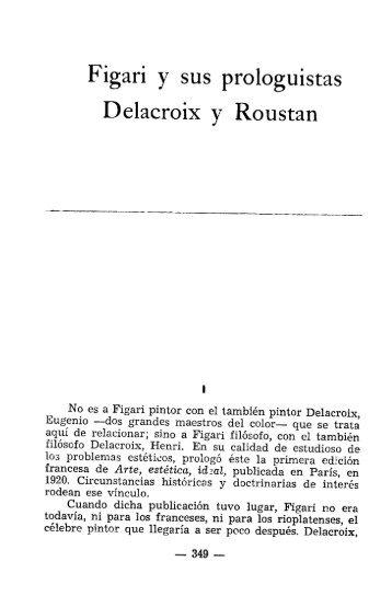 Figari y SUS prologuistas Delacroix y Roustan - Figuras