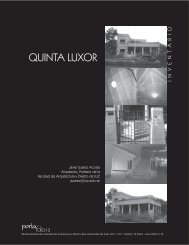 quinta luxor - Facultad de Arquitectura y Diseño - Universidad del ...