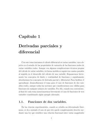 1º Derivación Parcial y Diferencial