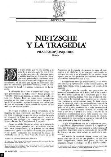 NIETZSCHE Y LA TRAGEDIA