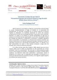 Comentario al trabajo de Joan Coderch - Psicoterapia Relacional