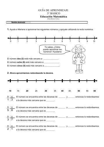 GUÍA DE APRENDIZAJE 3° BÁSICO Educación Matemática 1 3 5 8 ...