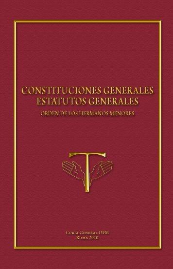 Constituciones generales - Orden de Frailes Menores Provincia de ...