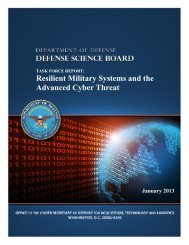 Resilient Military Systems and the Advanced Cyber Threat