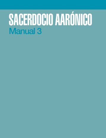 SACERDOCIO AARÓNICO Manual 3