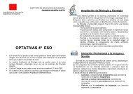 optativas 4º eso - IES Carmen Martín Gaite - Comunidad de Madrid