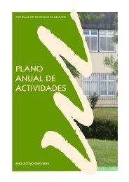 plano anual de actividades - Agrupamento de Escolas de Melgaço