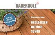 DAUERHOLZ - Ökologisch, haltbar, schön