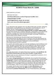 ACONTO Finanz News - Aconto Finanz GmbH