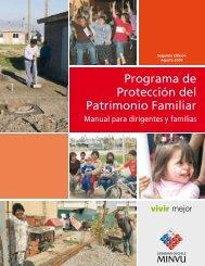 Programa de Protección del Patrimonio Familiar - Ministerio de ...