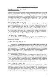 Textos bíblicos para el Via Lucis Pascual