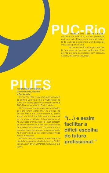 PIUES 2013.indd - PUC-Rio