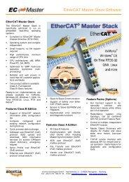 EtherCAT Master Stack Software - acontis technologies GmbH