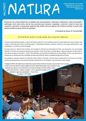N.º 8 - Inverno 2006 - Valongo Ambiental