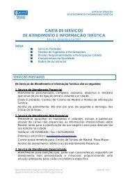 carta de serviços de atendimento e informação turística - Madrid