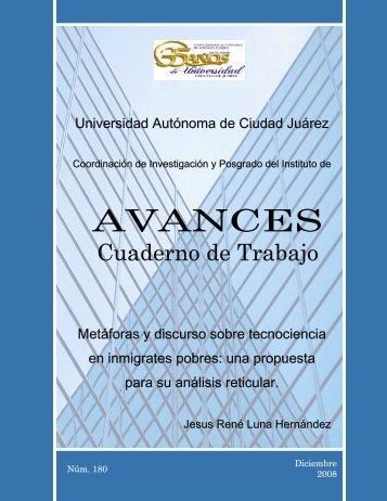 Avances 180. Jesus Rene Luna - Universidad Autónoma de Ciudad ...