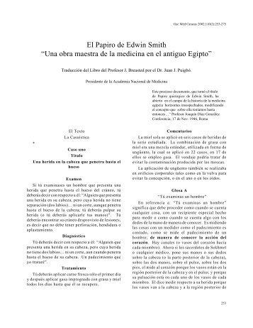 """El Papiro de Edwin Smith """"Una obra maestra - Academia Nacional ..."""