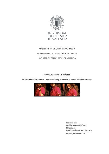 Máster Artes Visuales Y Multimedia Departamentos De Pintura Y