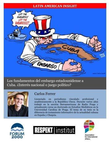 Los fundamentos del embargo estadounidense a Cuba. ¿Interés ...