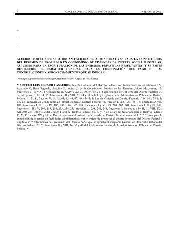Facilidades administrativas para la constitución del ... - IDConline