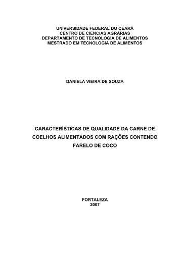 Daniela Vieira de Souza - Pós-Graduação em Ciência e Tecnologia ...