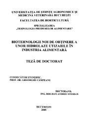 Biotehnologii noi de obţinere a unor hidrolaze utilizabile în industria ...