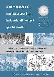 Externalizarea şi Munca Precară în Industria Alimentară şi - IUF