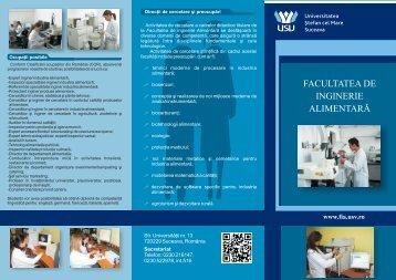 Pliant admitere 2013 - Facultatea de Inginerie Alimentara ...