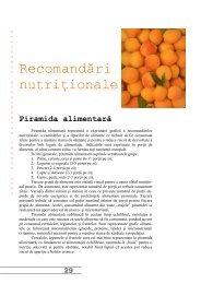 Recomandări nutriţionale