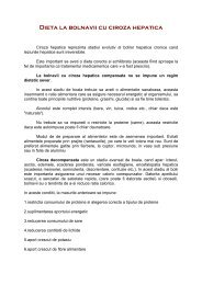 Dieta la bolnavii cu ciroza hepatica - gastrotm.ro