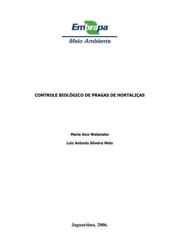 Controle biológico de pragas e hortaliças - of /docsagencia