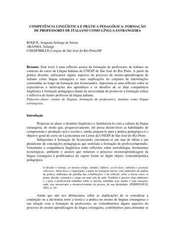 ROQUE, Araguaia Solange de Souza - Centro de Comunicação e ...