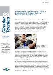 Procedimentos para Manejo da Criação e Multiplicação do ...