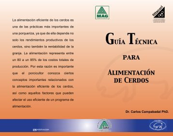 Guía Técnica para Alimentación de Cerdos - Ministerio de ...