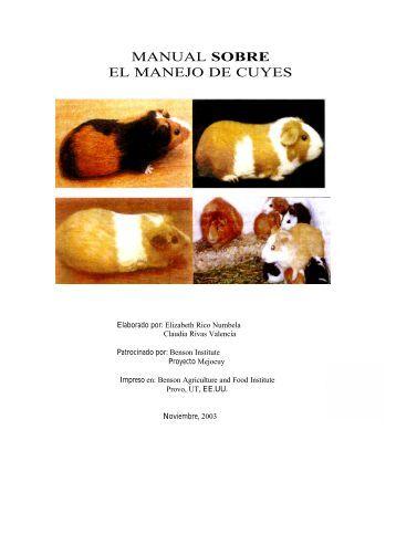 manual sobre el manejo de cuyes - Red de mujeres para el desarrollo